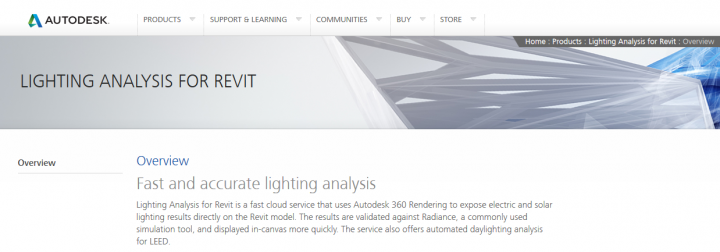 Lighting Analysis for Revit graduates from Labs – LEED analysis addins