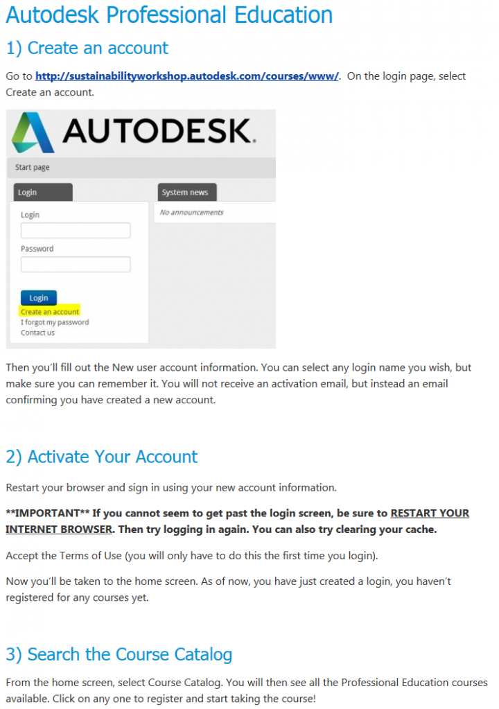 Autodesk Pro Courses Registration page – Autodesk Building Performance Analysis (BPA) Certificate and free Professional Analysis Courses