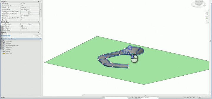 Align Topography to underside of a Shape Edited Floor