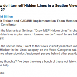 Don't Forget about the Discipline of the View in Revit, especially when it comes to Hidden Lines