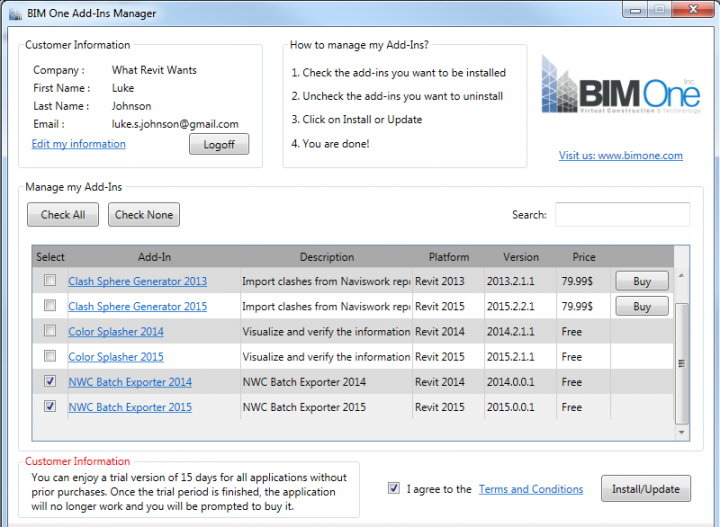 NWC Batch Export from Revit – multiple Revit views to multiple NWCs with one click