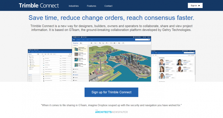 GTeam launched as Trimble Connect for BIM team project collaboration, with free trial
