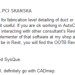 Using Revit for MEP and Duct Fabrication? What are you using to make that happen?
