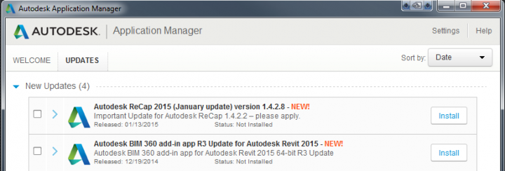 January 2015 updates to BIM360 Revit 2015 Addin and Recap 1.4.2.8 direct download links
