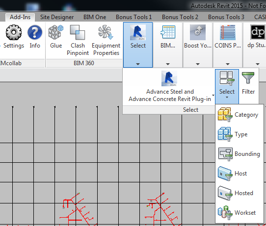 Selection Tools included with BIMiTs Revit Plug-in