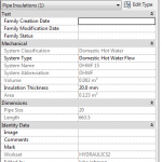 Changing the Workset of Pipe Insulation in Revit