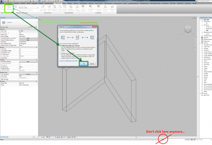 Wondering Why Your Worksets Button is Grayed out in Revit 2015 Update 7 with C4R v4?