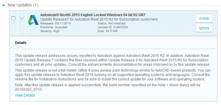 Revit 2015 Update 7 Direct Download Links