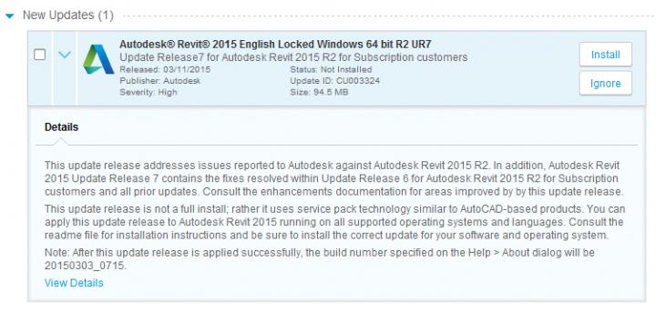 Revit 2015 Update 7 Direct Download Links