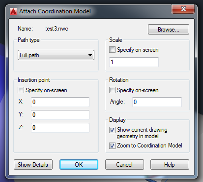 Download Update for better Snapping to Attached Coordination Model (Navisworks NWD NWC) in AutoCAD 2016 products