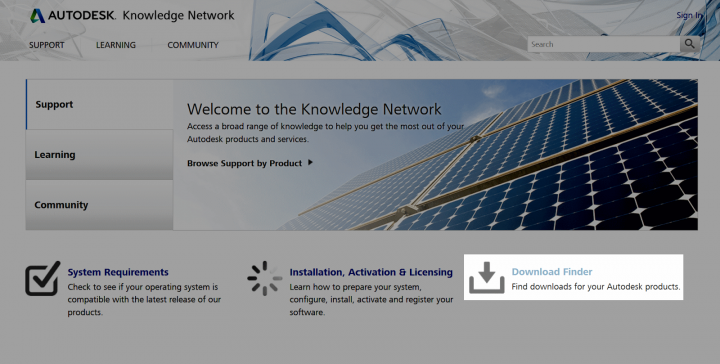 Download Finder for Autodesk Products and Updates