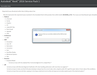 Service Pack 1 for Autodesk Revit 2016.