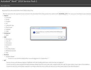 Service Pack 1 for Autodesk Revit 2016.