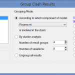 Automatic Grouping of Clashes in Navisworks with Free Addin
