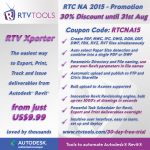 RTV Xporter for only US9.99! Coupon Code and 30% discount here…