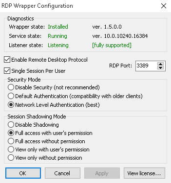 Enable Multiple RDP (Remote Desktop) sessions in Windows 10