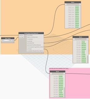 Create Floors from Rooms across Multiple Links in Dynamo