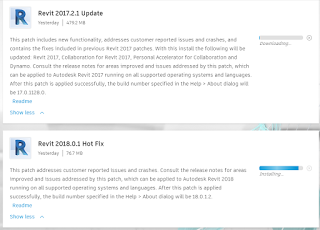 Revit 2018.0.1 Hot Fix and Revit 2017.2.1 Update
