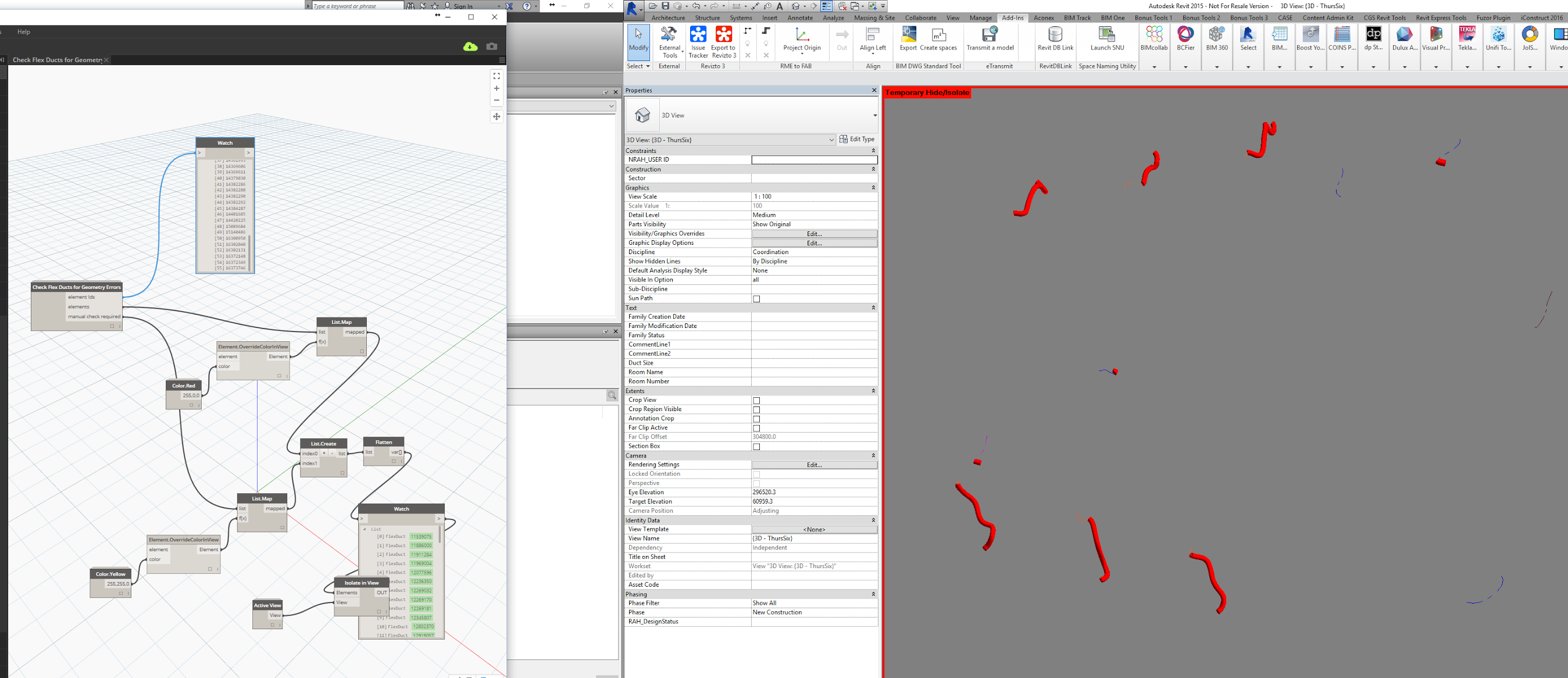 Fix Flex Duct Geometry Failures by Using a Kind Of More Reliable Modelling Solution in @DynamoBIM