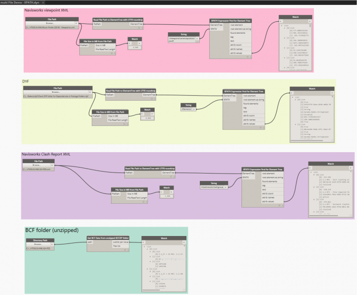 Read XML Files and Use In Revit with XML Support added to Bakery Package in DynamoBIM