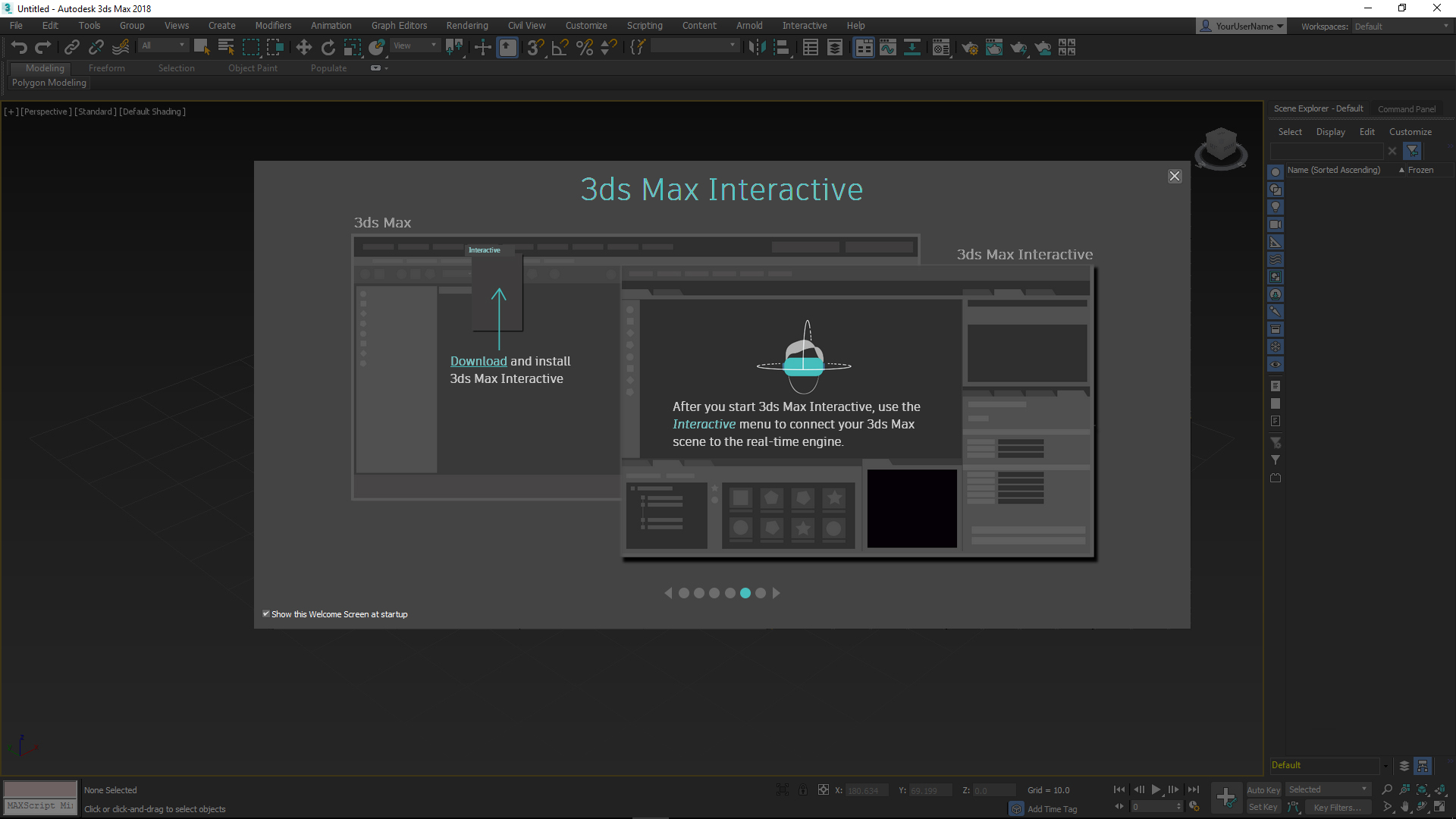 Real-time VR and 3ds Max Interactive