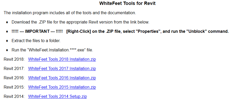 WhiteFeet Tools updated for Revit 2018 (very cool) » What Revit Wants