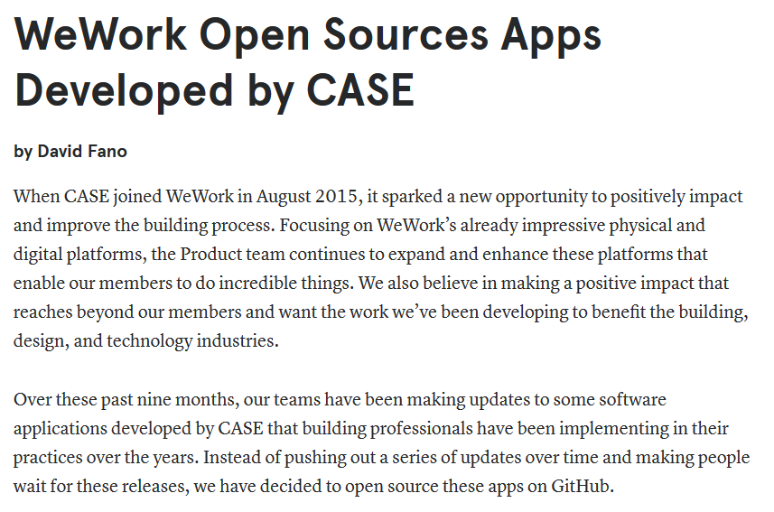 Big News: Case Apps release code as open source on github