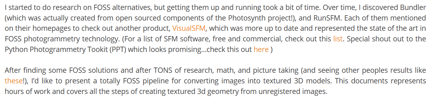Open Source Photogrammetry Workflow with VisualSFM and Meshlab