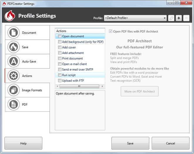 using a free pdf printer with rtv xporter pro for automatic batch