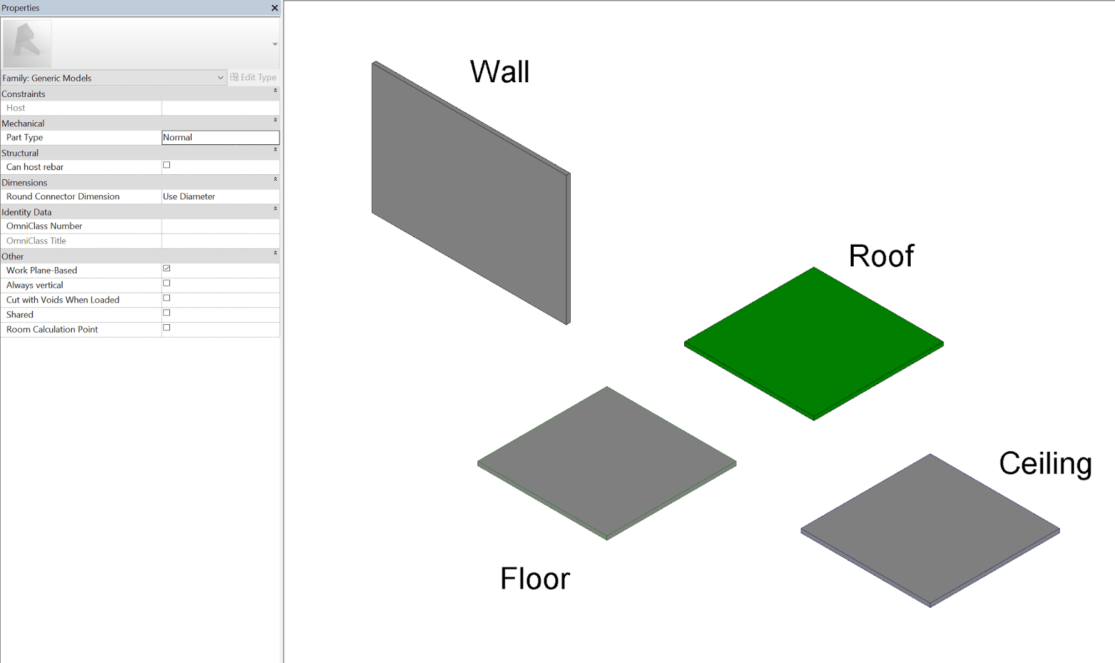 Convert Between Hosted Wall, Face, Ceiling, Floor, and Non-Hosted Families in Revit