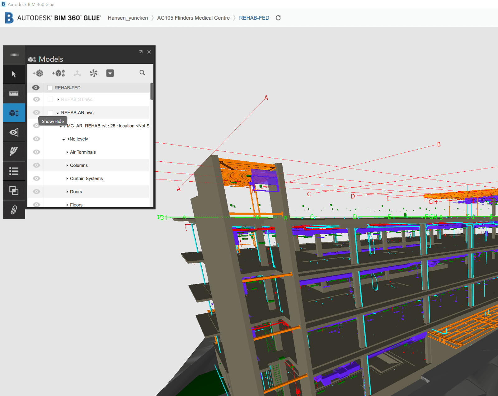 Workarounds for Sharing Colour Overrides From Navisworks to BIM 360 Glue