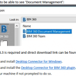 Using BIM 360 Document Management in Revit