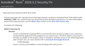 Revit 2018.3.2 Security Fix and Revit 2017.2.4 Security Fix Download Links